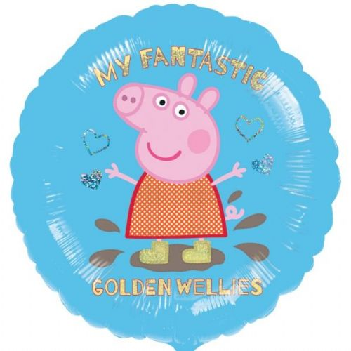 "Peppa Pig Blue Balloon - 18"" Foil (each)"